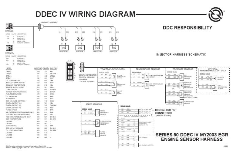 motor s 50 ddec iv conector el�ctrico turbocompresor DDEC 1 Wiring Diagram