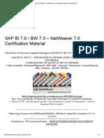 Sap Bi 7.0 _ Bw 7.3 – Netweaver 7