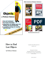 Prof  Solomon - How To Find Lost Objects