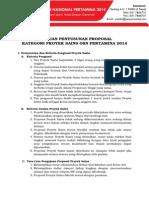 Panduan Format Proposal Proyek Sains OSNPertamina2014 FINAL