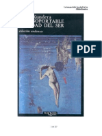 La Insoportable Levedad Del Ser - Milan Kundera