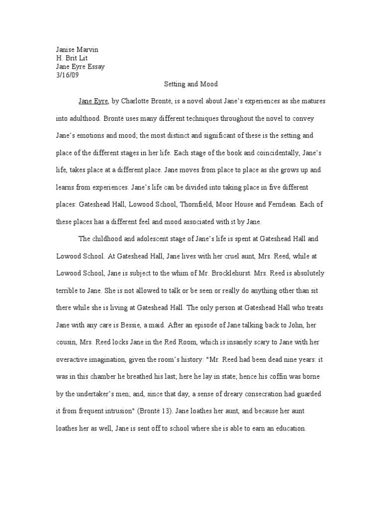 Jane Eyre Essay  Jane Eyre  George Washington Essay Paper also Help Writing Essay Paper  Essay Examples High School