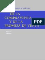 De La Compraventa y de La Promesa de Venta. Tomo v.I