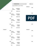 Ratio Analysis - Dummy Data Sheet