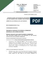 Detroit City Council Agenda 2014-09-16
