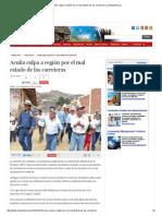 12-09-2014 ACUÑA CULPA A REGIÓN POR EL MAL ESTADO DE LAS CARRETERAS