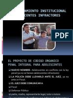 Materialel Internamiento Institucional de Adolescentes Infractores