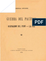 GDP Tomo 3 Gonzalo Bulnes Ocupacion Del Peru La Paz.1919