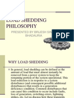 Load Shedding Philosophy Ppt