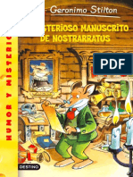 Stilton 03 - El Misterioso Manuscrito de Nostrarratus - Geronimo Stilton