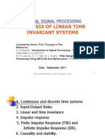 Analysis of Linear Time Invariant Systems