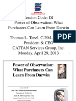 Power of Observation-What Purchasers Can Learn From Darwin-Final--Tanel-Session Code-DJ 98th ISM Conference