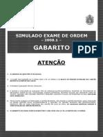 Simulado Do Exame de Ordem 20081