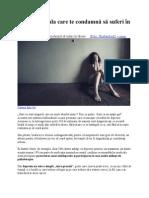 Depresia, Boala Care Te Condamnă Să Suferi În Tăcere 2003