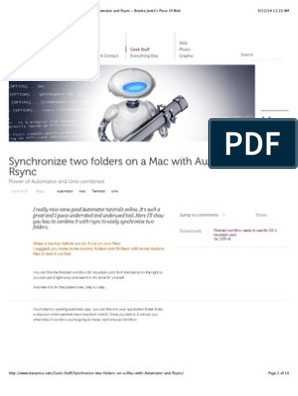 Geek Stuff - Synchronize Two Folders on a Mac With Automator