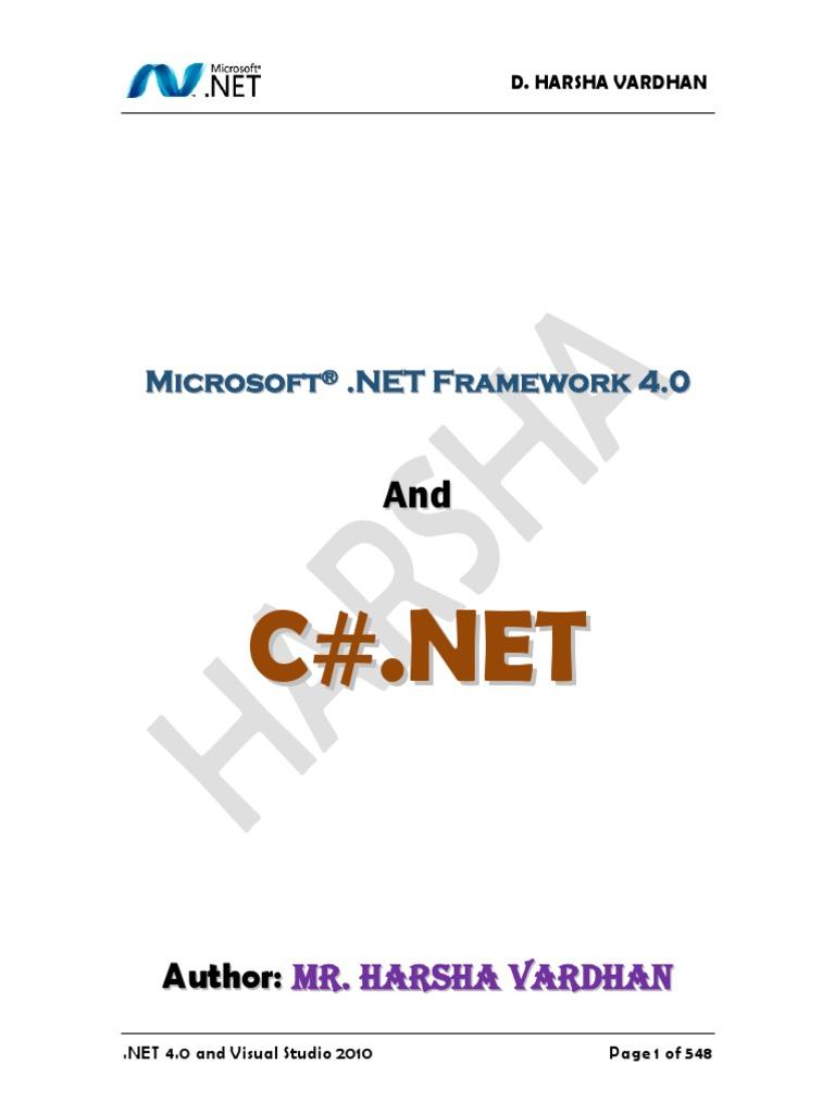 C# NET Material   Microsoft Visual Studio   Method (Computer