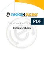 One Minute Revision Guides