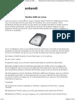 El Escáner Epson Perfection 2480 en Linux