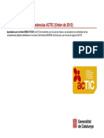 Contenidos ACTIC Orden 2012
