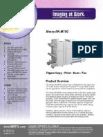 Sharp Ar 700 Brochure