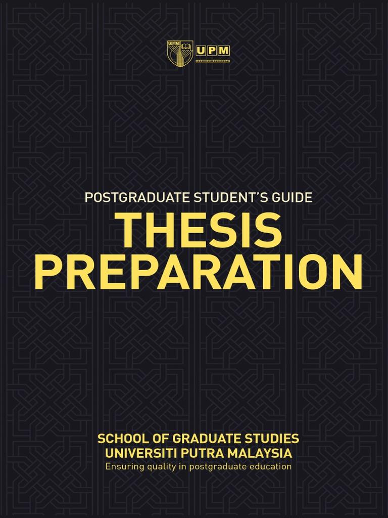 Dissertation preparation