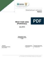 Motor Trade Statistics