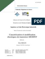 Caracterisation Des Transistors