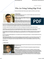 Forbes India Magazine - 18 Indian Minds Who Are Doing Cutting Edge Work