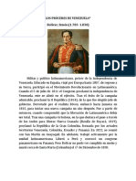 Biografía de Los Próceres