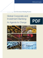 Global Corporate and Investment Banking an Agenda for Change