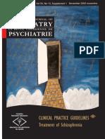 CPA Guidelines- Schizophrenia