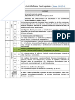 Cronograma de Actividades Electroquímica Sem 2015-1