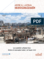 La Cuestion Urbana Hoy