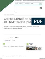 Acesso a Banco de Dados Em c# - Nível Básico (Parte 1)