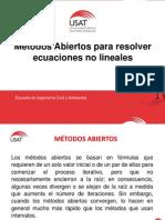 Métodos Abiertos Ec. No Lineales