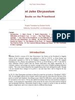 Six Books on the Priesthood, St. John Chrysostom.doc
