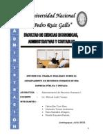 Informe Entidad Publica y Privada Rrhh