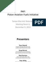 Piston Aviation Fuels Initiative
