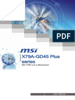 MSI X79 GD45 PLUS Motherboard Manual