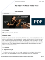 6 Simple Ways to Improve Your Viola Tone Production