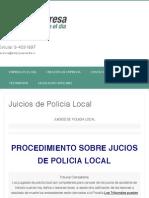 Juicios de Policia Local