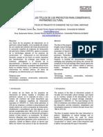 La Terminologia en Los Proyectos de Restauracion. RECOPAR N9 ISSN1886-2497