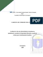 Avaliação in Vitro Da Citotoxicidade de Monômeros, Plastificante e Produtos de Degradação Liberados a Partir de Resinas Para Uso Imediato