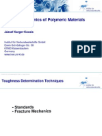 Fracture Mechanics of Polymeric Materials