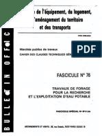 CCTG fascicule 76-forage pour recherche d'eau potable.pdf