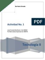 Actividad No. 1 Tecnologia II