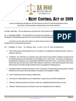 RA 9653 - Rent Control Act of 2009
