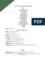 Condensed Grammar Guide