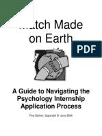 Internship Workbook