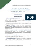 d.leg. 1150 - Regimen Disciplinario de La Pnp